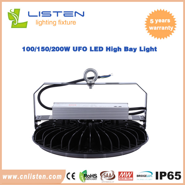 100W/150W/200W UFO LED High Bay Light With Meanwell Driver Philip3030 led chip - copy