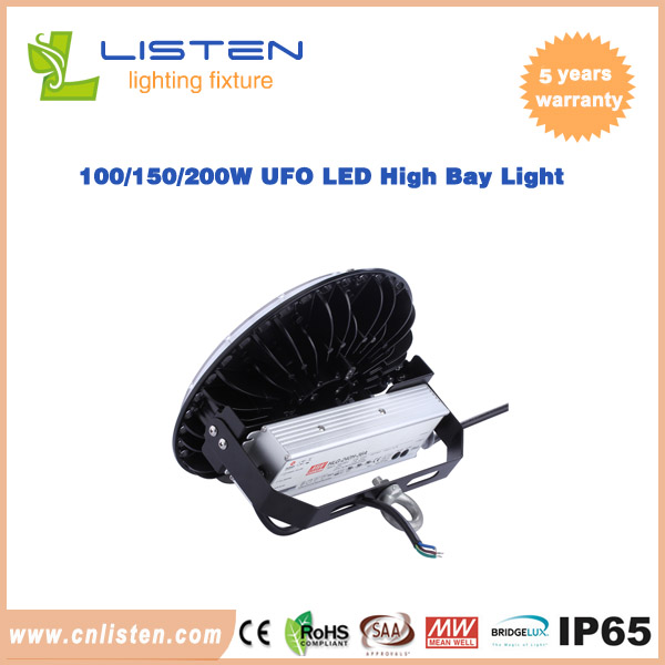 100w 150w 200w Ufo Led High Bay Light With Meanwell Driver