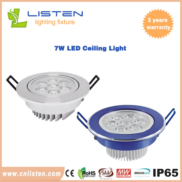 7W LED ceiling lights for indoor places