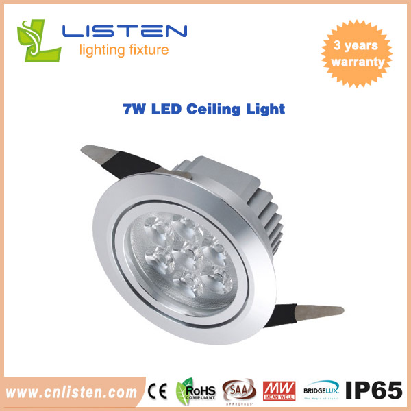 Aluminum LED ceiling light 7W