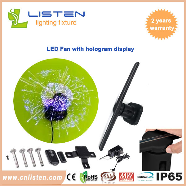 LED fan with hologram display