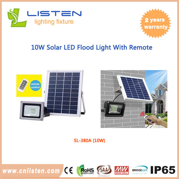 10w outdoor solar power flood light 900lm night security light 10w solar flood light remote control mozeypictures Choice Image