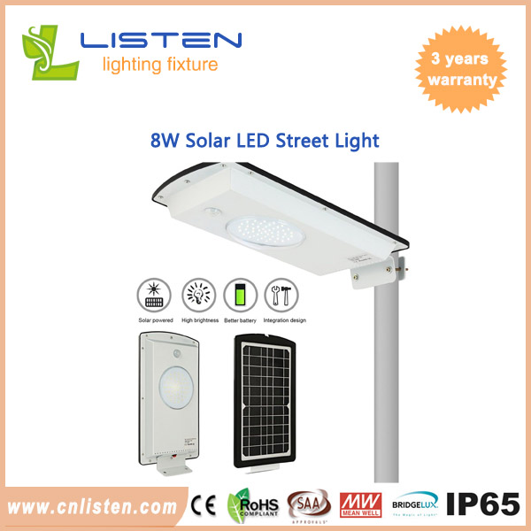8W/12W/15W Integrated Solar LED Street Lamp