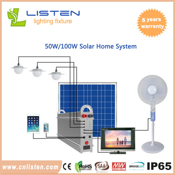 Solar power home system 50W/100W could replace the AC home lighting ...
