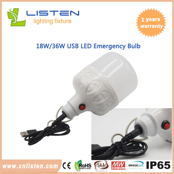 USB Recharge Emergency Bulb
