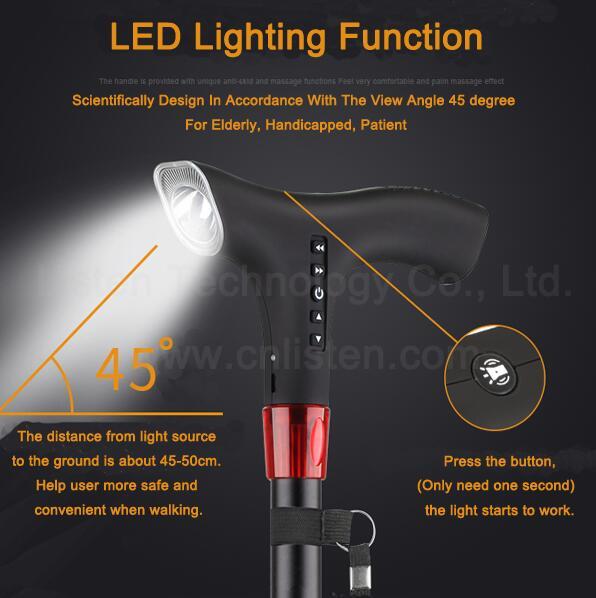 Led Lighting Intelligent Multi Functional Electronic Cane