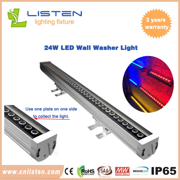 24W led wall washer light with dmx512,IP65